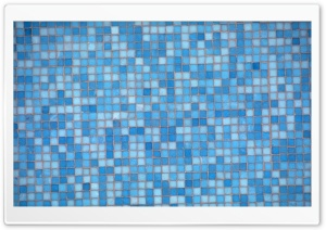 Blue Mosaic HD Wide Wallpaper for Widescreen