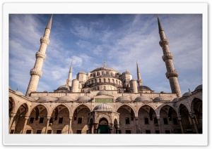 Blue Mosque HD Wide Wallpaper for Widescreen