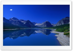 Blue Mountain Lake HD Wide Wallpaper for Widescreen