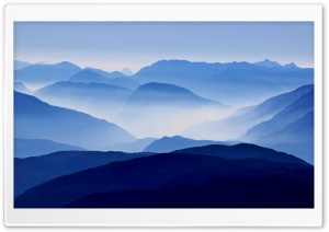 Blue Mountains Mist HD Wide Wallpaper for Widescreen