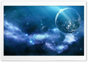 Blue Nebula HD Wide Wallpaper for Widescreen