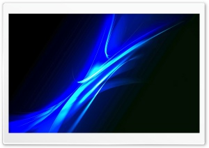 Blue Neon Light HD Wide Wallpaper for Widescreen