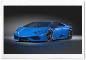 Blue Novitec Torado Lamborghini Huracan N-Largo 2015 HD Wide Wallpaper for 4K UHD Widescreen desktop & smartphone