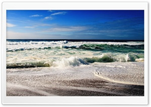 Blue Ocean Waves HD Wide Wallpaper for Widescreen