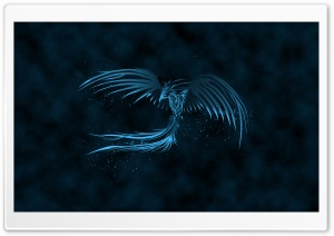 Blue Phoenix HD Wide Wallpaper for Widescreen
