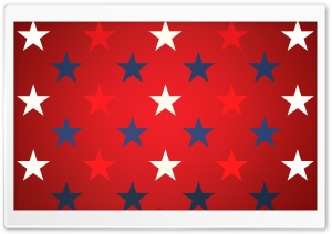 Blue, Red And White Stars HD Wide Wallpaper for Widescreen