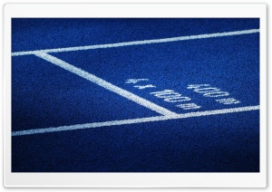 Blue Running Track HD Wide Wallpaper for Widescreen