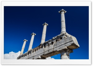 Blue Skies Of Pompeii HD Wide Wallpaper for 4K UHD Widescreen desktop & smartphone