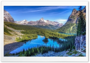 Blue Sky Reflected In Little Lake HD Wide Wallpaper for Widescreen