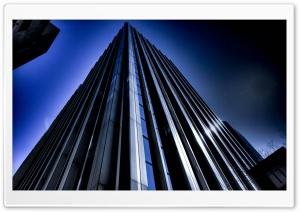 Blue Skyscraper HD Wide Wallpaper for 4K UHD Widescreen desktop & smartphone