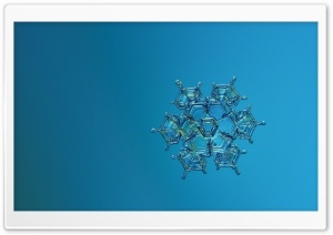 Blue Snowflake HD Wide Wallpaper for Widescreen