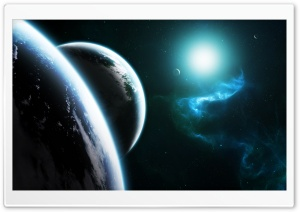 Blue Space HD Wide Wallpaper for Widescreen