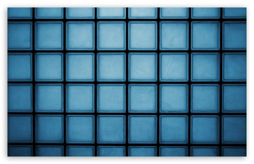 Download Blue Squares HD Wallpaper