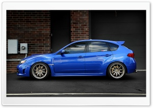 Blue Subaru Impreza WRX HD Wide Wallpaper for Widescreen