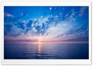 Blue Sunrise HD Wide Wallpaper for Widescreen