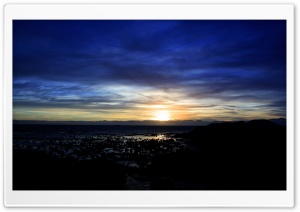 Blue Sunset Sky HD Wide Wallpaper for Widescreen