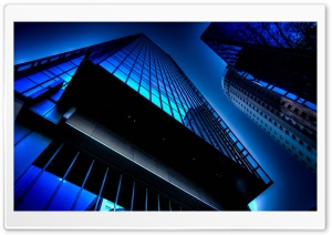 Blue Towers HD Wide Wallpaper for Widescreen