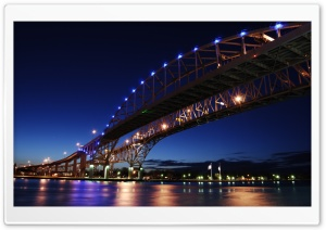 Blue Water Bridge HD Wide Wallpaper for Widescreen