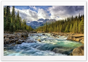 Blue Waters Of Fast River HD Wide Wallpaper for Widescreen