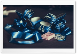 Blue Wedding Sandals HD Wide Wallpaper for 4K UHD Widescreen desktop & smartphone
