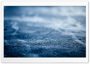 Blue Wet Surface HD Wide Wallpaper for Widescreen