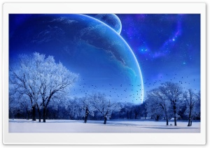 Blue Winter HD Wide Wallpaper for Widescreen