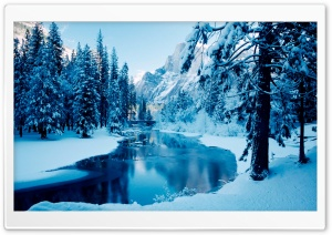 Blue Winter Landscape HD Wide Wallpaper for Widescreen