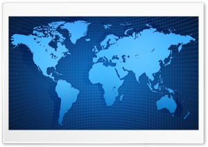 Blue World Map HD Wide Wallpaper for 4K UHD Widescreen desktop & smartphone