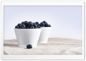 Blueberries in Bowl, Table HD Wide Wallpaper for 4K UHD Widescreen desktop & smartphone