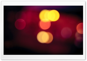 Blurred Car Lights HD Wide Wallpaper for Widescreen