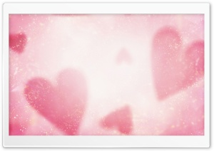Blurred Hearts HD Wide Wallpaper for Widescreen