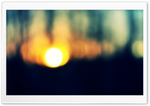 Blurred Sunset HD Wide Wallpaper for Widescreen
