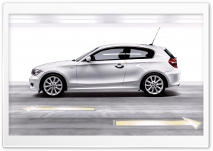 BMW 1 Series White HD Wide Wallpaper for Widescreen