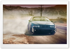 BMW 320CI In Desert HD Wide Wallpaper for Widescreen