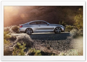 BMW 4-Series Coupe - 2013 Side View HD Wide Wallpaper for Widescreen