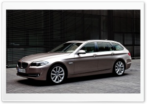 BMW 5 Series Touring 520D In Milano Beige HD Wide Wallpaper for Widescreen
