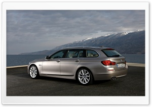 BMW 5 Series Touring 520D In Milano Beige   Landscape HD Wide Wallpaper for Widescreen