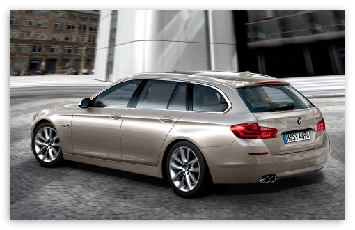 BMW 5 Series Touring 520D In Milano Beige   Rear Angle View HD wallpaper for Wide 16:10 5:3 Widescreen WHXGA WQXGA WUXGA WXGA WGA ; HD 16:9 High Definition WQHD QWXGA 1080p 900p 720p QHD nHD ; Standard 3:2 Fullscreen DVGA HVGA HQVGA devices ( Apple PowerBook G4 iPhone 4 3G 3GS iPod Touch ) ; Mobile 5:3 3:2 16:9 - WGA DVGA HVGA HQVGA devices ( Apple PowerBook G4 iPhone 4 3G 3GS iPod Touch ) WQHD QWXGA 1080p 900p 720p QHD nHD ;