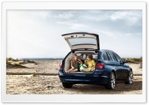 BMW 5 Series Touring F11   Beach HD Wide Wallpaper for Widescreen