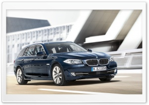 BMW 5 Series Touring F11   Exterior Design   Front Angle View HD Wide Wallpaper for Widescreen