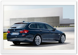 BMW 5 Series Touring F11   Exterior Design   Rear Angle View HD Wide Wallpaper for Widescreen