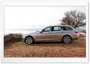 BMW 5 Series Touring F11 In Milano Beige   Autumn HD Wide Wallpaper for Widescreen