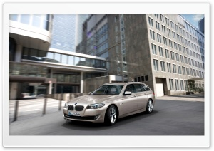 BMW 5 Series Touring F11 In Milano Beige   City HD Wide Wallpaper for Widescreen