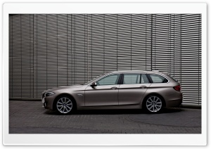 BMW 5 Series Touring F11 In Milano Beige   Left Side View HD Wide Wallpaper for Widescreen
