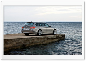 BMW 5 Series Touring F11 In Milano Beige   Pier HD Wide Wallpaper for Widescreen