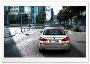 BMW 5 Series Touring F11 In Milano Beige   Rear HD Wide Wallpaper for Widescreen