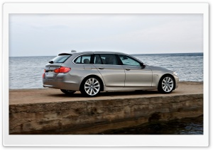 BMW 5 Series Touring F11 In Milano Beige   Sea HD Wide Wallpaper for Widescreen