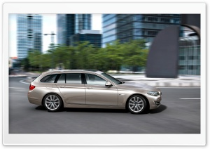 BMW 5 Series Touring F11 In Milano Beige   Side View HD Wide Wallpaper for Widescreen