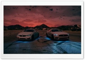 BMW - Ford Mustang HD Wide Wallpaper for Widescreen