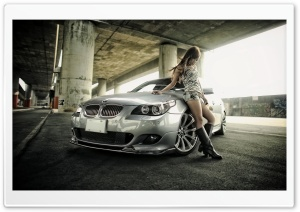 BMW and Girl HD Wide Wallpaper for Widescreen
